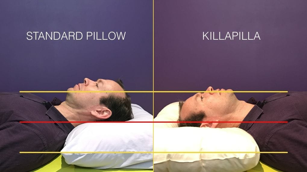 Killapilla vs Standard Pillow comparison image