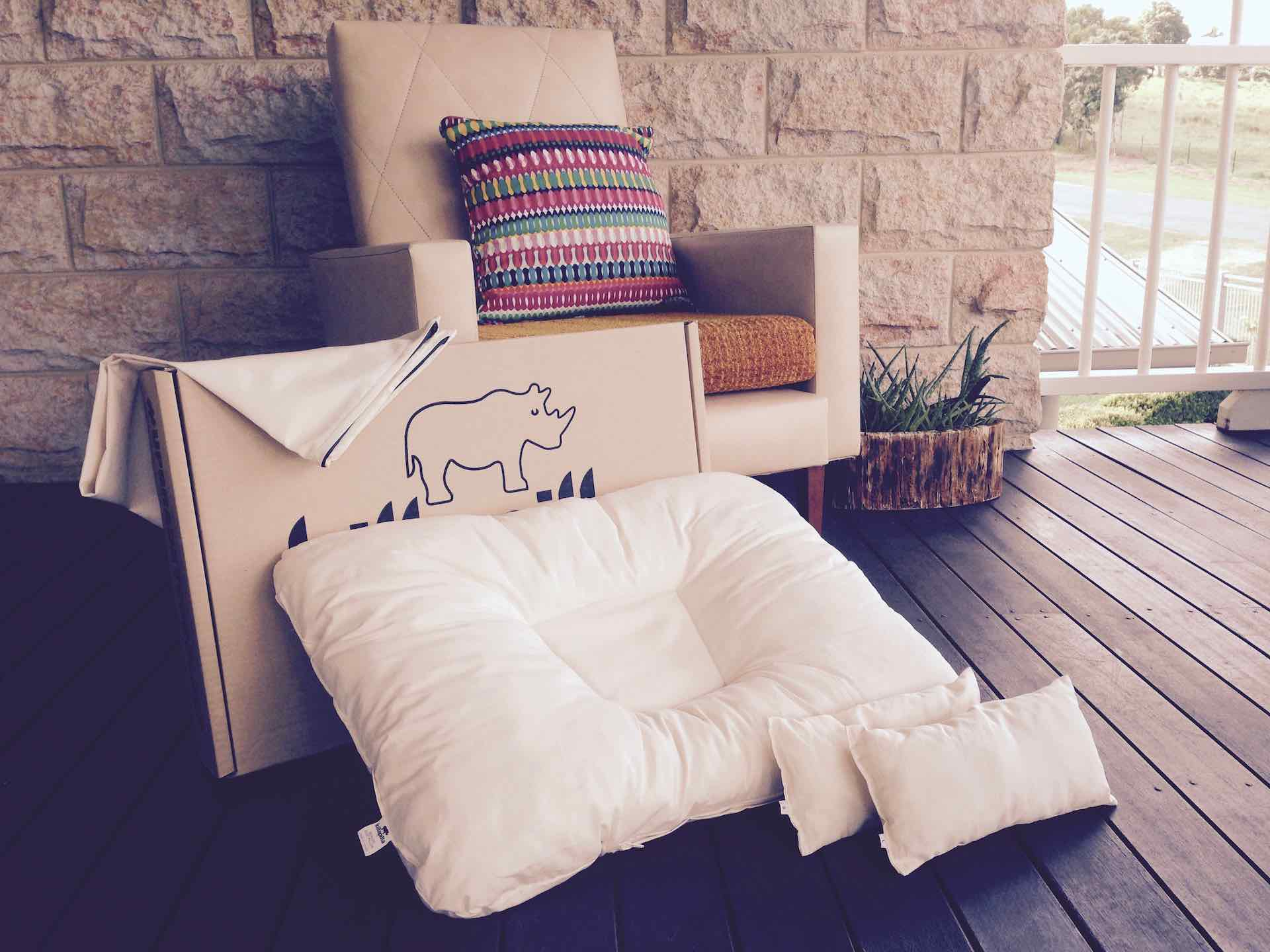 Non-Toxic Pillow covered in Organic Cotton