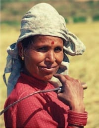 Indian Farmer Lady